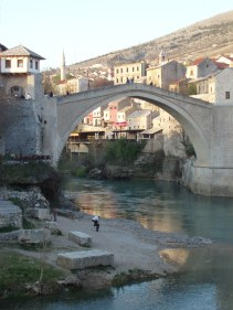 View of Mostar in March