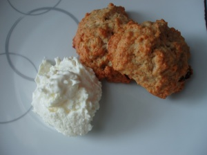 scones and kaymak