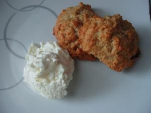 scones and kaymak