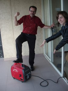 Andreas with the generator