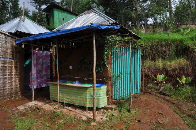 Latrines and wash station