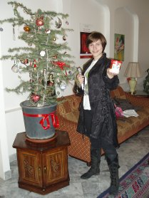 2011 - Damascus, Syria. We learned later that the school guards went to a quite dangerous part of the city to find this fir tree for us.