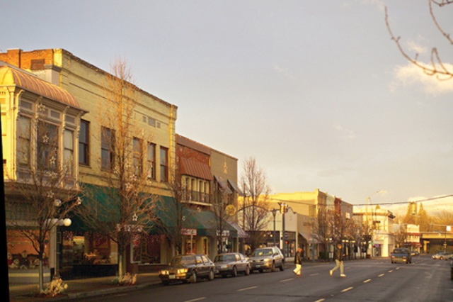 Downtown Medford at sunset. Photo: http://thealbagroup.com/?page_id=804