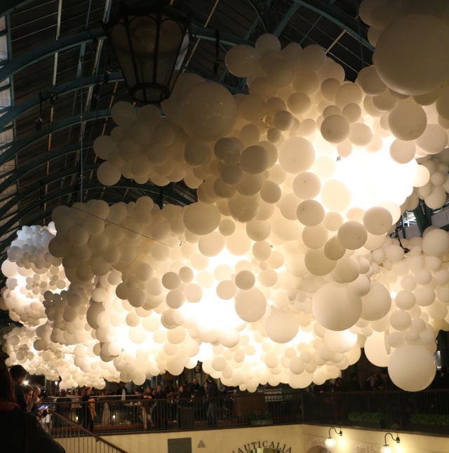Covent Garden Market was full of balloons for a special art installation.