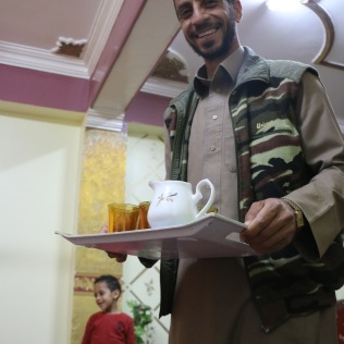 Ahmed serves us mint tea after the meal