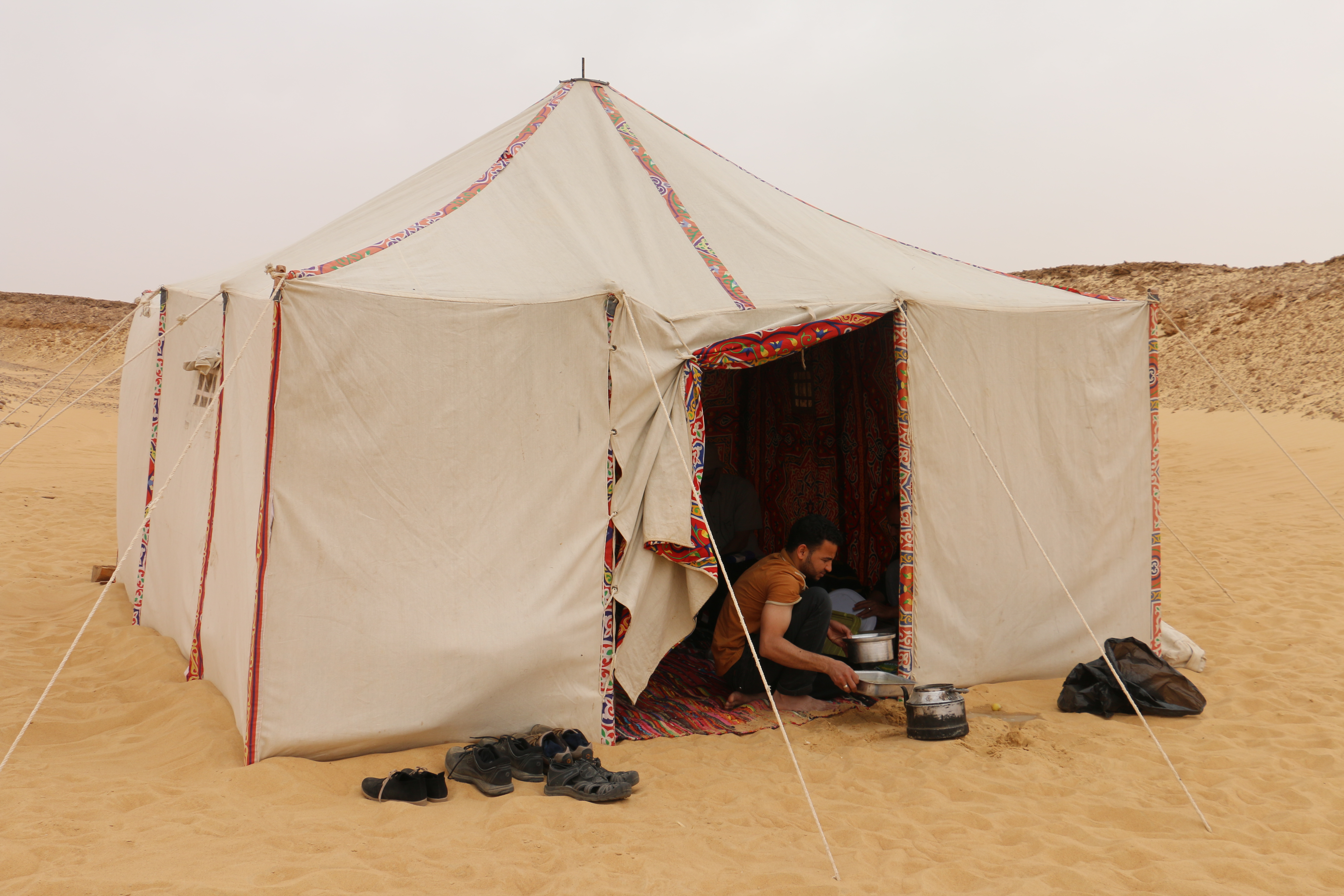 The vendors here in this old covered souk specialize in made-to-order Bedouin-style canvas tents like the one we stayed in when we visited the White Desert. & Tent-makersu0027 alley | Lorna of Arabia